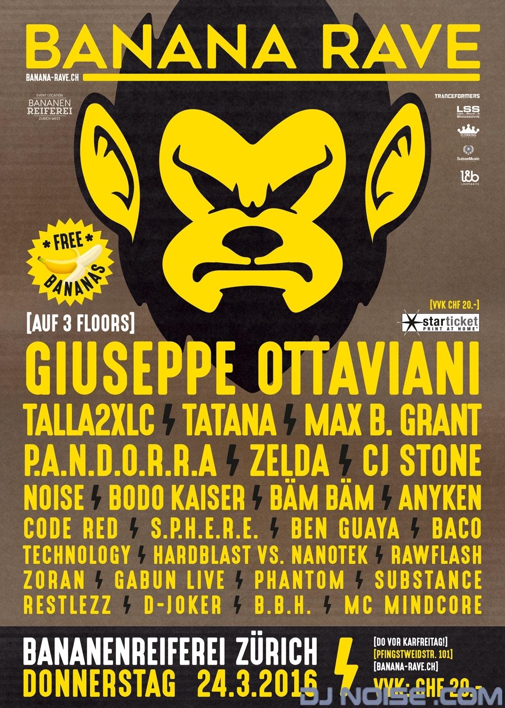 2016.03.24 Banana Rave Plakat